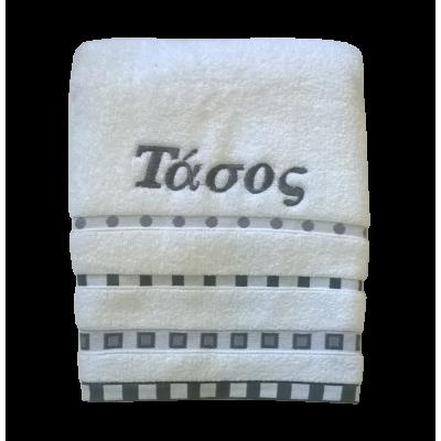 Πετσέτα προσώπου βαμβακερή με μοντέρνο σχέδιο