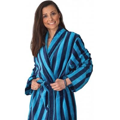 Μπουρνούζι ανδρικό / γυναικείο Stripes Κλωτσοτήρας