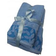 Σετ πετσέτες βαμβακερές με ανάγλυφο σχέδιο 3 τεμαχίων