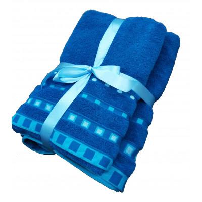 Σετ πετσέτες βαμβακερές με μοντέρνο σχέδιο 3 τεμαχίων