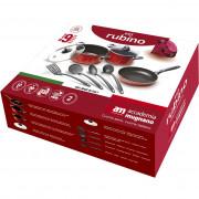 Σετ 9 αντικολλητικά σκεύη μαγειρικής Σειρά Rubino, made in Italy