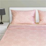 Σετ Μαξ/κες + Σεντόνια διπλά με Λάστιχο, 240x260cm, 100% βαμβ., 144 κλωστές, siliconized, δαμασκηνό ροζ