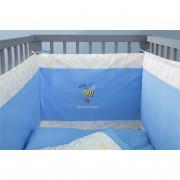 Βρεφική Πάντα Κρεβατιού 40x200cm, 100% Βαμβάκι, με Κέντημα Μέλισσα