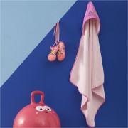 Βρεφική Κάπα Πετσετέ, με Κουκούλα, σχέδιο Πεταλούδα, 75X75cm, χρώμα Ροζ