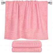 Πετσέτα μπάνιου ροζ 70x140 cm, Σειρά Comfort, 500gr/m², Πενιέ, Fennel