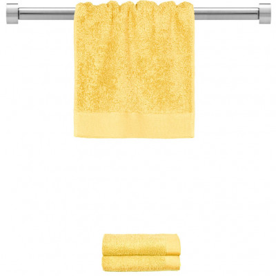 Πετσέτα χεριών κίτρινη 30x50 cm, Σειρά Premium , 600gr/m², Πενιέ, Fennel