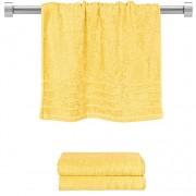 Πετσέτα προσώπου κίτρινη 50x90 cm, Σειρά Comfort, 500gr/m², Πενιέ, Fennel