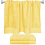 Πετσέτα μπάνιου κίτρινη 80x150 cm, Σειρά Premium , 600gr/m², Πενιέ, Fennel