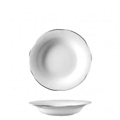 Πιάτο Βαθύ 22.5cm, πορσελάνης, σειρά Kamelia Silver, VAN KOTTLER Europe