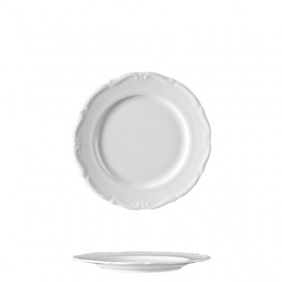 Πιάτο Ρηχό 21cm, πορσελάνης, σειρά Maria Teresa White, VAN KOTTLER Europe