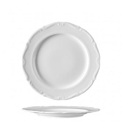 Πιάτο Ρηχό 27cm, πορσελάνης, σειρά Maria Teresa White, VAN KOTTLER Europe