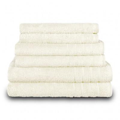 Πετσέτα προσώπου εκρου 50x90 cm, Σειρά Comfort, 500gr/m², Πενιέ, Fennel